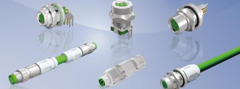 """CONEC M8x1 Steckverbindern D-codiert mit """"Fast Ethernet"""""""